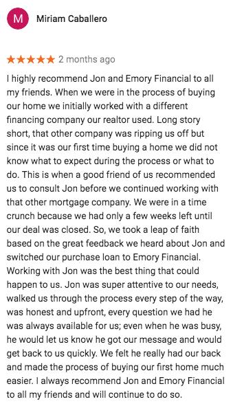 Mortgage San Fernando Review